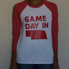 Game Day In Nebraska Tee Adult Nebraska Tshirt Nebraska