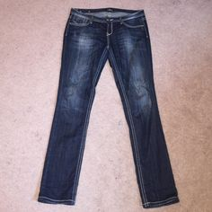 Rerock for Express Jeans Rerock for express skinny jeans. Great thick stitching and design on back pockets. I've worn these a handful of times and unfortunately they do not fit anymore. You will feel like a rockstar wearing these! Express Jeans Skinny