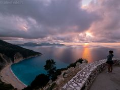 .. I actually do like sunsets and long walks on the beach ;)  Kefalonia , sunset in Myrtos beach !