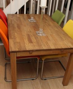 Hvordan pusse opp spisebordet? - Fornyelse av gamle møbler - ifi.no Dining Table, Rustic, Furniture, Home Decor, Country Primitive, Decoration Home, Room Decor, Dinner Table, Retro