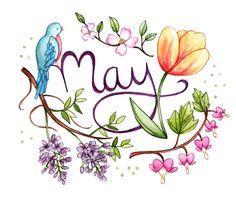 Bullet Journal Month of May Kalender Design, Bullet Journel, Karten Diy, Beltane, Hello Spring, Bullet Journal Inspiration, Journal Pages, Journals, Printables