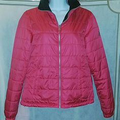 "Pink & Black ZeroXposure Coat Long Sleeve Jacket Perfect condition only worn a few times. Ladies pink with black contrast inside and the collar ZeroXposure lightweight coat/ jacket for the fall, winter and spring. Bust measurement laying flat is 18"" and the length from shoulder to hem is 22"". Very cute. Size small. No trade. Please use the bundle feature on the right side of each listing for an automatic 15% off 3 items or more. Otherwise. Price firm. ZeroXposure Jackets & Coats Puffers"