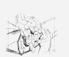 animated genga mitsuo_iso neon_genesis_evangelion takeshi_honda