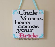 #herecomesthebride #weddingdecorations #weddingsign #handmade