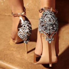 999825900698 Rhinestone Fashion Women Banquet Sandals High Heels Shoes