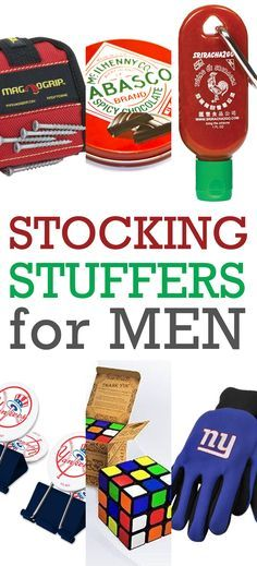 Stocking Stuffers for Men!  Gifts that they really will want : )