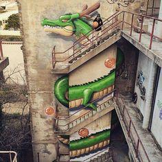 Dragon Ball. Jeaze Oner - Graffiti & Street Art Soldierz X Hista X DEMI PORTION