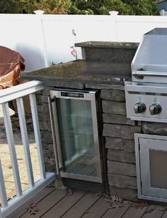 cement block outdoor grill | Slide-In Grill Station Idea for 30