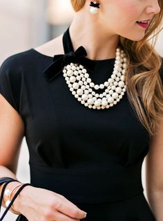 Girls in Pearls || Lonestar Southern (I love these Kate Spade pearl earrings!)