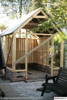 kasvihuone,piha,katto,Tee itse - DIY,runko