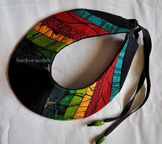One of a Kind African Patchwork Collar Handmade door BarefootModiste, $30.00