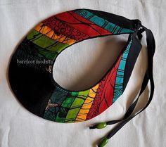 One of a Kind African Patchwork Collar Handmade door BarefootModiste, $30.00