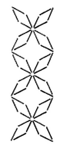 "Stencils - JD584 - Star Border (Kaku-shippo) - 5 1/2"""