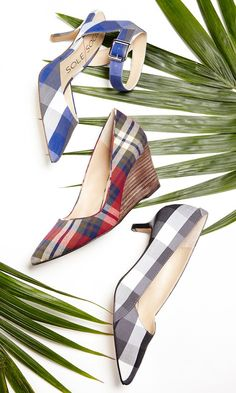 Fun plaid heels and wedges by Sole Society