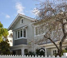 3 foolproof schemes for character homes :: Habitat of the Week Resene  Half Ash boards, Quarter Bianca windows, Gauntlet box window