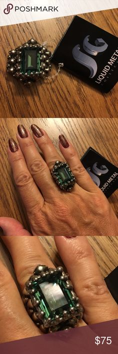 Sergio Gutierrez Ring. Size 7. New and GORGEOUS!! Sergio Gutierrez liquid metal ring. Size 7. I also have a size 6 but need to keep for me 😍 Sergio Gutierrez Jewelry Rings