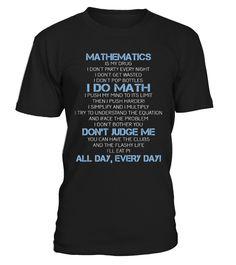 Mathematics is my drug.