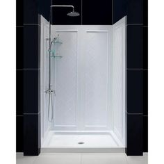 650,DreamLine QWALL-5 36 in. x 48 in. x 76-3/4 in. Standard Fit Shower Kit in White…