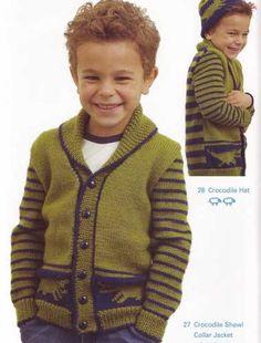 Crocodile Shawl Collar Jacket  | <br/>    Knittin