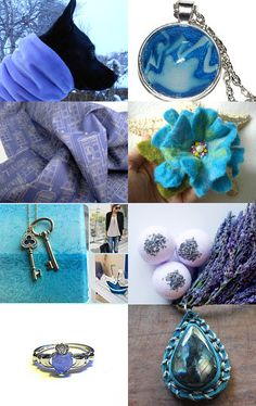 Lavender and Blue, Spring is coming by ne.me hair bows on Etsy--Pinned with TreasuryPin.com