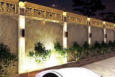 House Compound Gate Compound Wall Gate Design, Gate Wall Design, Exterior Wall Design, Interior Design, House Outside Design, House Design, Boundry Wall, Compound House, Kerala Houses
