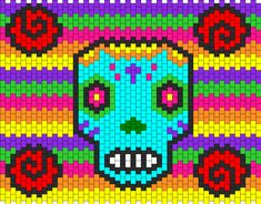 Sugar Skull bead pattern