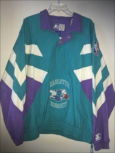 Vintage 90's Starter NBA Charlotte Hornets Jacket - Size Large/XL by…