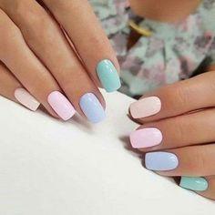 Chic Nail Art, Chic Nails, Stylish Nails, Trendy Nails, Pastel Nail Art, Classy Nails, Pastel Nail Polish, Gel Polish, Best Acrylic Nails