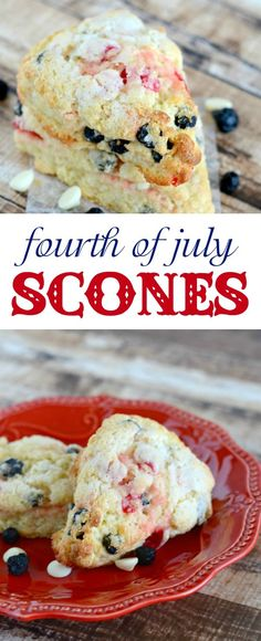 4th of July Scones.