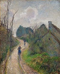 Image result for Camille Pissarro - Road Climbing to Osny, 1883