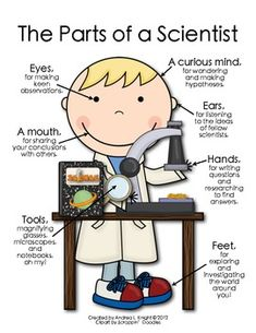 The Parts of a Scientist {Boy} $1.00