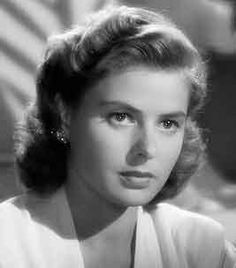 """Ingrid, in the role she is most remembered by, that of Ilsa Lund, in the legendary film """"Casablanca. Old Hollywood Hair, Old Hollywood Actresses, Swedish Actresses, Old Hollywood Stars, Golden Age Of Hollywood, Classic Hollywood, Bogart And Bacall, Isabella Rossellini, Ingrid Bergman"""