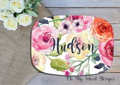 A personal favorite from my Etsy shop https://www.etsy.com/listing/290197653/personalized-platter-monogram-platter