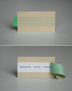 Creative Business Card For Agrie Paint Services Carte De Visite Graphisme Cartes