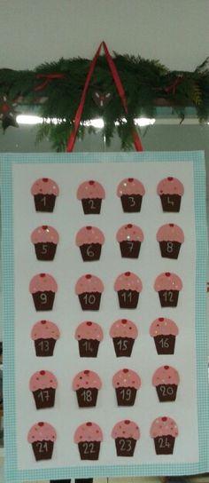 Calendario avvento cupcakes