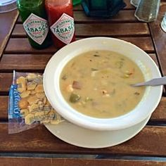 CLAM CHOWDER  Boston Beanery Restaurant Recipe   Makes 8 Large Servings   3/4 cup butter ( 1 1/2 Sticks )  3 carrots, medium diced  4 cu...
