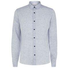 Orlebar Brown Morton Slim Linen Shirt ($275) ❤ liked on Polyvore featuring mens, men's clothing, men's shirts and men's dress shirts