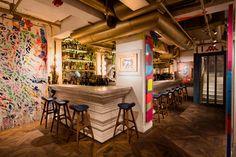 Image of BIBO Restaurant in Hong Kong Features Installations by Street Art Legends