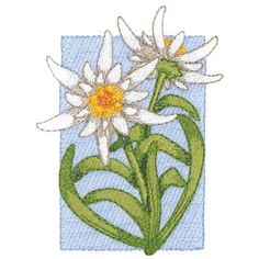 Edelweiss embroidery design