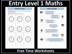 This resource contains two age-appropriate worksheets on time - telling the time and days of the week / time problems - for pupils working at Entry Level Teaching Math, Maths, Time To The Hour, Comparing Numbers, Powerpoint Lesson, Certificate Of Achievement, Aqa, Writing Numbers, Addition And Subtraction
