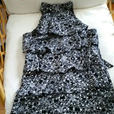SALE Sparkly black sleeveless shirt Tops Tank Tops