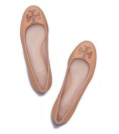 Blond Tory Burch Lowell Ballet Flat