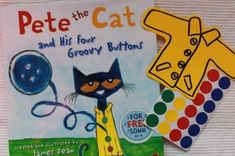Pete the Cat - color and counting activity - use colored circle stickers as storytelling prop