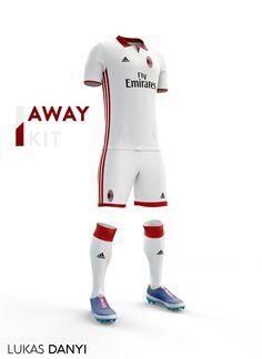 AC. Milan football kit 16/17. on Behance