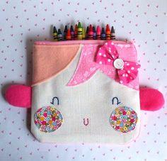 Pretty pink zipper pouch by sweetdolls on Etsy, $19.00