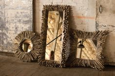 square driftwood mirror  $299.00