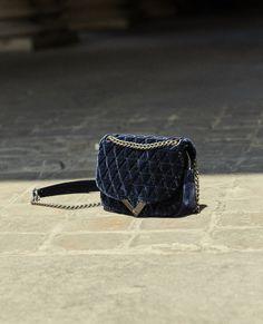 Mini navy velvet bag Stella by The Kooples - THE KOOPLES WOMAN 8bf53c9ec6168
