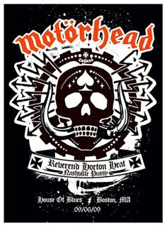 Motorhead gig poster by Peter Cardose