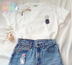 Poche BTS menthe Yoongi T-Shirt Design by Yeooongi Kpop Merch, I Dress, Mom Jeans, Shirt Designs, Denim Shorts, Pocket, Mint, Bts, T Shirt