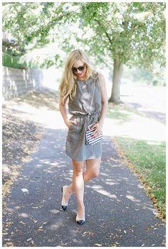 Khaki Dress on blushandcamo.com today!